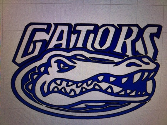 Florida Gator Stickers : Florida gator head decal