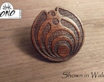Laser Engraved Bassnectar 3rd Generation Logo Solid Wood Hat Pin