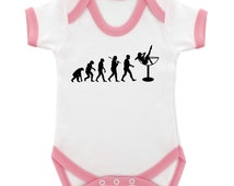 Evolution of Burlesque contrast trim Babygrow - 4 colours & 3 sizes available