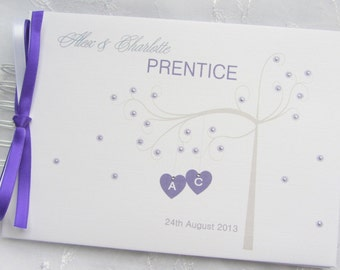 Personalised Wedding /Engagement/ Anniversary / Guest Book / Scrapbook Memory Album