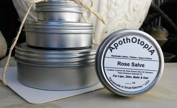 Moisturizing Rose Salve - Ointment - Balm, Organic, Nourishing & Creamy
