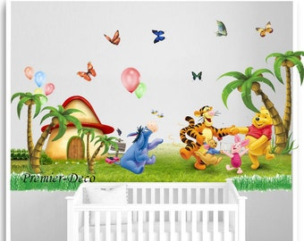 Winnie the Pooh Nursery baby bedroom playroom Wall Decal , removable wall  sticker, wallpaper art