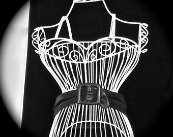 Vintage Women's genuine leather gathered black belt 1970's