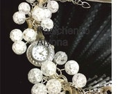 rhinestone clock, bracelet for girl.
