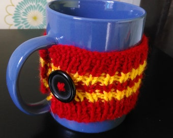 Gryffindor Colours Knitted Mug Cosy