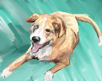 Digital Pet Portrait, 40% goes to Villalobos Rescue Center