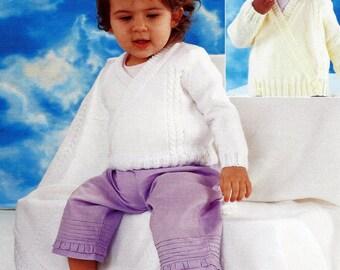 Beautiful Crossover Cardigan and Shawl Knitting Pattern.