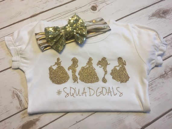 Gold sparkle squad goals shirt for Bucket squad gold shirt