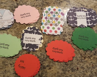 Set of 9 different thank you confetti.. also happy birthday.. total of 36!