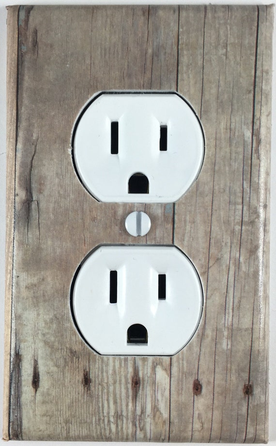 Barn Wood Decor Design One Light Switch Cover Outlet Switch
