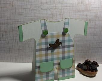 Baby Boy Invitation. Set of 10 with envelopes