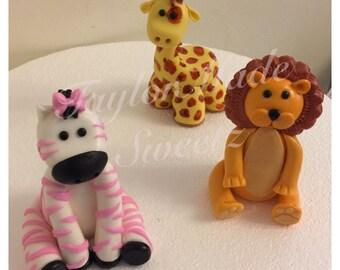 Safari Animal Cake Topper