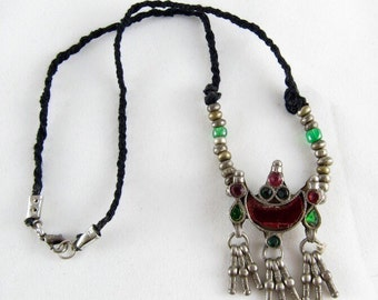 Indian silver necklace - Mughal style