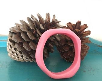 Organic Resin Bangle - Pink