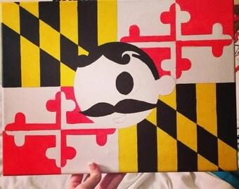 Natty Boh Maryland Flag Canvas