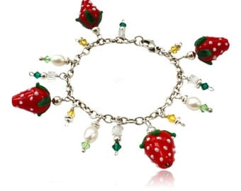 Sterling silver bracelet Strawberry