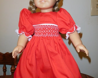 Hand Smocked Doll Dress
