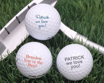 18 pcs Your Own Words Personalized Golf Balls (MIC243)
