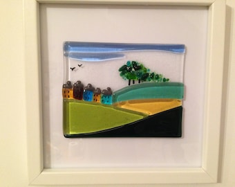 Fused Glass Framed Picture