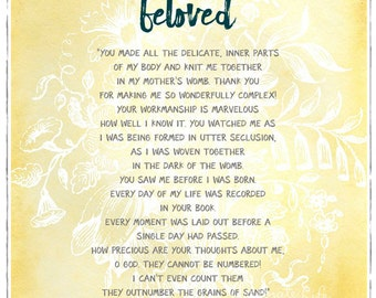 You are Beloved 8x10 print