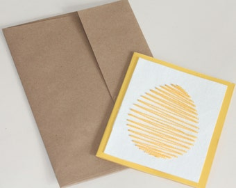 Stitchionery™ Easter Egg Card - Size Small (4x5) - Hand-Stitched