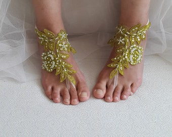 wedding shoes,summer shoes,beach shoes, costume shoes,bridal accessories,beads lace green, wedding sandals,free shipping!bridesmaids,