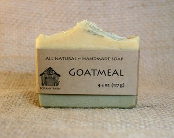 Oatmeal Soap, Goat Milk Soap, Clay Soap, Gentle Soap - Goatmeal - All Natural Soap, Organic Soap, Handmade Soap, Cold Process Soap