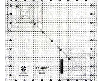 "Is It Sqaure 10.5"" Acrylic Quilting Template"