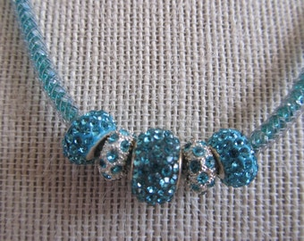 Pandora necklace in blues