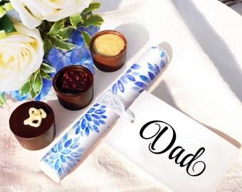 Sparklers Wedding Favour - BLUE Floral Dahlia Design