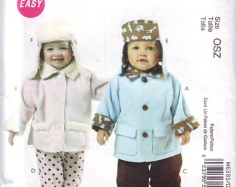 New McCall's UNCUT Infant Clothing Pattern in Sizes S-L. 2011