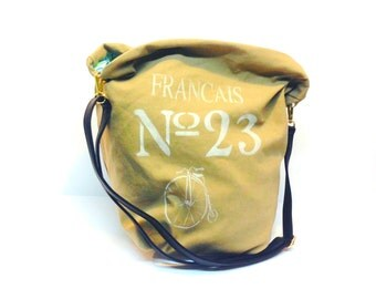 hand made bicentennial canvas tote bag