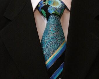 Necktie, Neck Tie, Tie, Cotton Necktie, Floral Necktie, Paisley Necktie, Stripe Necktie, Blue Necktie, Black Necktie, Purple Necktie
