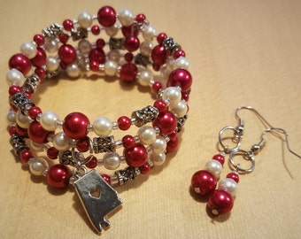 Sweet Home Alabama Bracelet and Earrings Set