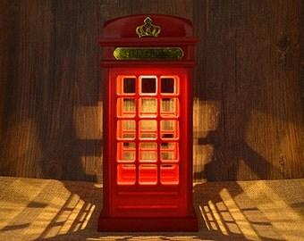 London Telephone Box LED Light