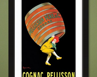 Vintage Advertising – Leonetto Cappiello – Pellisson Pére & Co Cognac – French 1907 (12x18 Heavyweight Art Print)