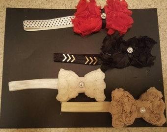 Newborn infant headbands 4 pack
