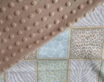 Animal Print Minky Baby Blanket