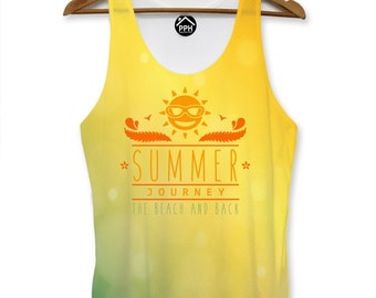Summer Journey Beach Vest Mens Pool Party Holiday Singlet Sleeveless Tank PP107