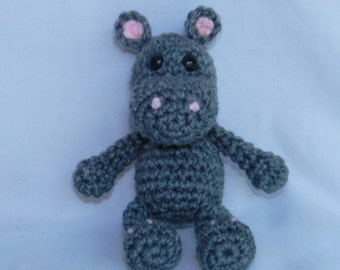 Henry the Hippo - crochet amigurumi stuffed toy