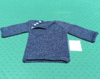 Navy/Denim Pullover Sweater - Size 12/18 Months