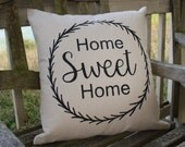 17x17//Home Sweet Home Pillow Cover//Free Shipping