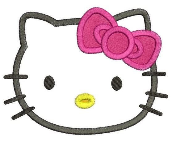 Hello kitty applique embroidery design by appliqueodesigns