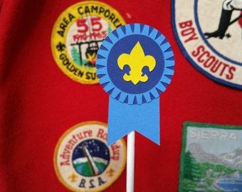 Boy Scout, Cub Scout Award Cupcake topper, Light Blue, Dark blue and Gold