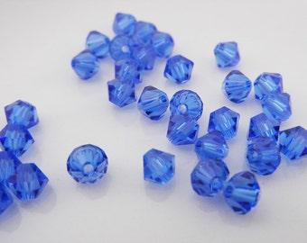 Swarovski Crystal 5301 Sapphire (35 pcs)