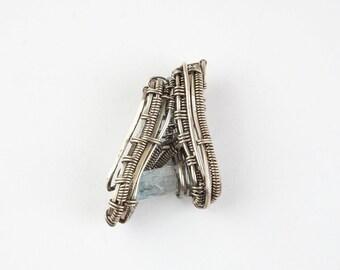 Aquamarine sterling silver 925 pendant