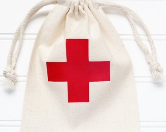 Large Hangover Kit Bag With Red Cross