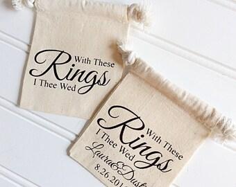 Custom Wedding Ring Bag For Best Man Or Ring Bear, Ring Bear Pillow Alternative