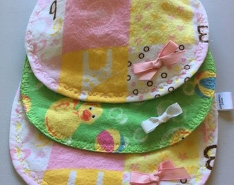 Baby girl infant flannel bibs