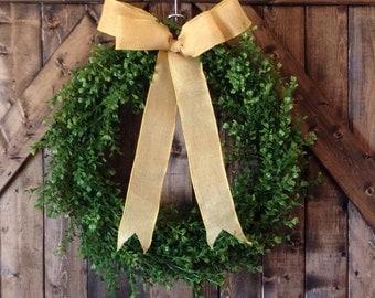 Lush greenery wreath